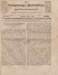 Der Königsberger Freimüthige, Nr. 15 Dienstag, 5 Mai 1846