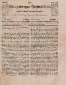 Der Königsberger Freimüthige, Nr. 18 Dienstag, 12 Mai 1846