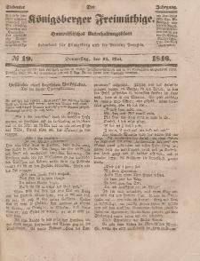 Der Königsberger Freimüthige, Nr. 19 Donnerstag, 14 Mai 1846