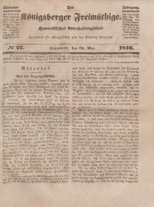 Der Königsberger Freimüthige, Nr. 22 Sonnabend, 23 Mai 1846