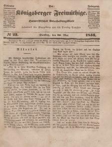 Der Königsberger Freimüthige, Nr. 23 Dienstag, 26 Mai 1846