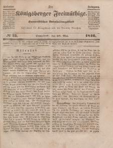 Der Königsberger Freimüthige, Nr. 25 Sonnabend, 30 Mai 1846