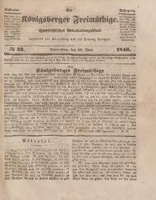 Der Königsberger Freimüthige, Nr. 33 Donnerstag, 18 Juni 1846