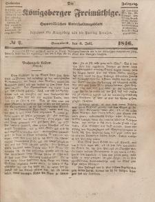 Der Königsberger Freimüthige, Nr. 2 Sonnabend, 4 Juli 1846