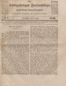 Der Königsberger Freimüthige, Nr. 3 Dienstag, 7 Juli 1846