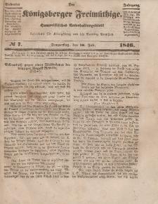 Der Königsberger Freimüthige, Nr. 7 Donnerstag, 16 Juli 1846