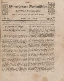 Der Königsberger Freimüthige, Nr. 15 Dienstag, 4 August 1846