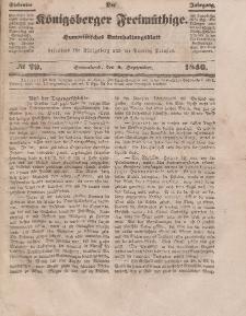 Der Königsberger Freimüthige, Nr. 29 Sonnabend, 5 September 1846