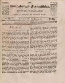 Der Königsberger Freimüthige, Nr. 32 Sonnabend, 12 September 1846