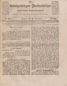 Der Königsberger Freimüthige, Nr. 33 Dienstag, 15 September 1846