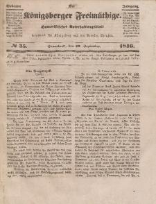 Der Königsberger Freimüthige, Nr. 35 Sonnabend, 19 September 1846