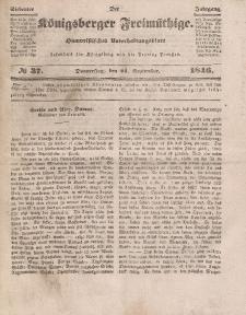 Der Königsberger Freimüthige, Nr. 37 Donnerstag, 24 September 1846