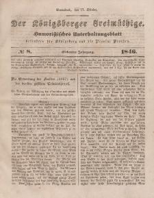Der Königsberger Freimüthige, Nr. 8 Sonnabend, 17 Oktober 1846
