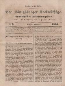 Der Königsberger Freimüthige, Nr. 9 Dienstag, 20 Oktober 1846