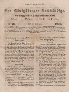 Der Königsberger Freimüthige, Nr. 16 Donnerstag, 5 November 1846