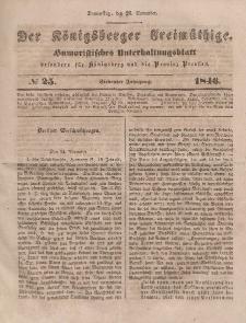 Der Königsberger Freimüthige, Nr. 25 Donnerstag, 26 November 1846