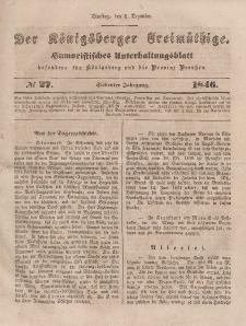 Der Königsberger Freimüthige, Nr. 27 Dienstag, 1 Dezember 1846