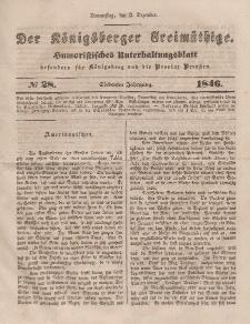 Der Königsberger Freimüthige, Nr. 28 Donnerstag, 3 Dezember 1846