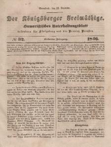 Der Königsberger Freimüthige, Nr. 32 Sonnabend, 12 Dezember 1846