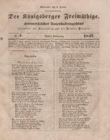 Der Königsberger Freimüthige, Nr. 4 Sonnabend, 9 Januar 1847