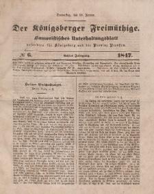 Der Königsberger Freimüthige, Nr. 6 Donnerstag, 14 Januar 1847