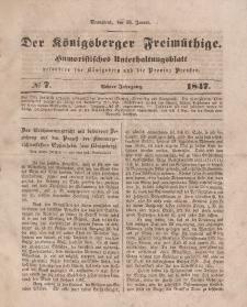 Der Königsberger Freimüthige, Nr. 7 Sonnabend, 16 Januar 1847