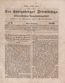 Der Königsberger Freimüthige, Nr. 8 Dienstag, 19 Januar 1847
