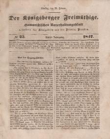 Der Königsberger Freimüthige, Nr. 23 Dienstag, 23 Februar 1847