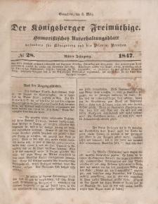 Der Königsberger Freimüthige, Nr. 28 Sonnabend, 6 März 1847