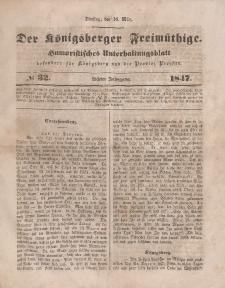 Der Königsberger Freimüthige, Nr. 32 Dienstag, 16 März 1847