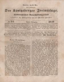 Der Königsberger Freimüthige, Nr. 34 Sonnabend, 20 März 1847