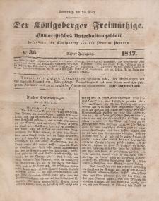 Der Königsberger Freimüthige, Nr. 36 Donnerstag, 25 März 1847