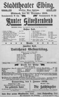 Bunter Silvesterabend. Lottchens Geburstag - Ludwig Fulda