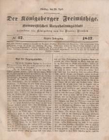 Der Königsberger Freimüthige, Nr. 47 Dienstag, 20 April 1847