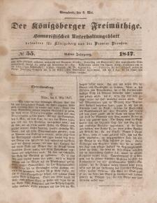 Der Königsberger Freimüthige, Nr. 55 Sonnabend, 8 Mai 1847