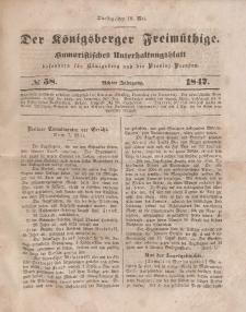 Der Königsberger Freimüthige, Nr. 58 Dienstag, 18 Mai 1847