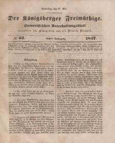 Der Königsberger Freimüthige, Nr. 62 Donnerstag, 27 Mai 1847