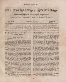 Der Königsberger Freimüthige, Nr. 63 Sonnabend, 29 Mai 1847