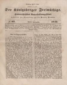 Der Königsberger Freimüthige, Nr. 67 Dienstag, 8 Juni 1847