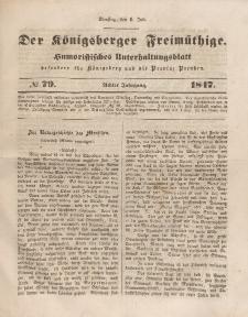 Der Königsberger Freimüthige, Nr. 79 Dienstag, 6 Juli 1847