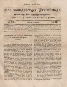 Der Königsberger Freimüthige, Nr. 90 Sonnabend, 31 Juli 1847