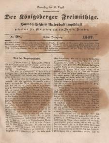 Der Königsberger Freimüthige, Nr. 98 Donnerstag, 19 August 1847