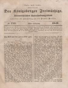 Der Königsberger Freimüthige, Nr. 130 Dienstag, 2 November 1847