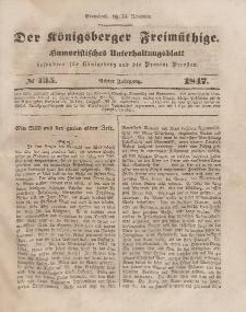 Der Königsberger Freimüthige, Nr. 135 Sonnabend, 13 November 1847