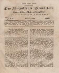 Der Königsberger Freimüthige, Nr. 136 Dienstag, 16 November 1847