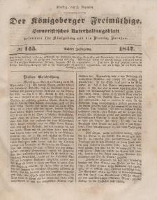 Der Königsberger Freimüthige, Nr. 145 Dienstag, 7 Dezember 1847