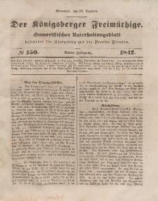 Der Königsberger Freimüthige, Nr. 150 Sonnabend, 18 Dezember 1847