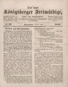 Der neue Königsberger Freimüthige, Nr. 22 Sonnabend, 17 April 1852