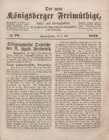 Der neue Königsberger Freimüthige, Nr. 28 Sonnabend, 1 Mai 1852