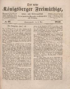 Der neue Königsberger Freimüthige, Nr. 31 Sonnabend, 8 Mai 1852